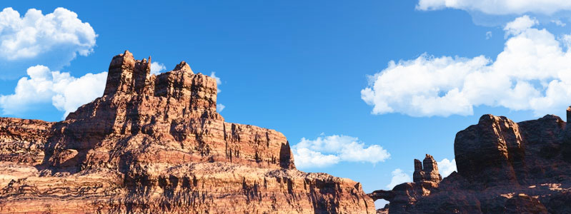 Animation de nuages dans le Grand Canyon