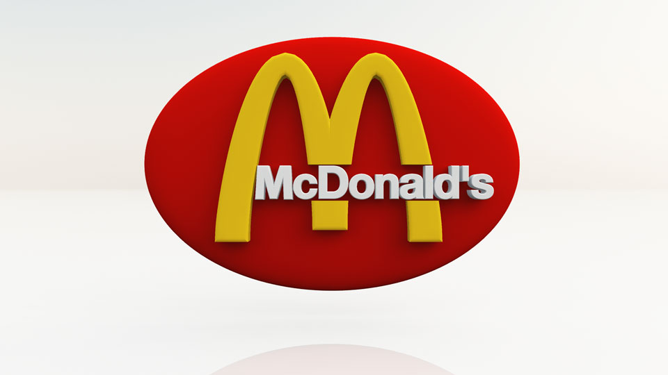 Logo 3D Mc Donald's ovale