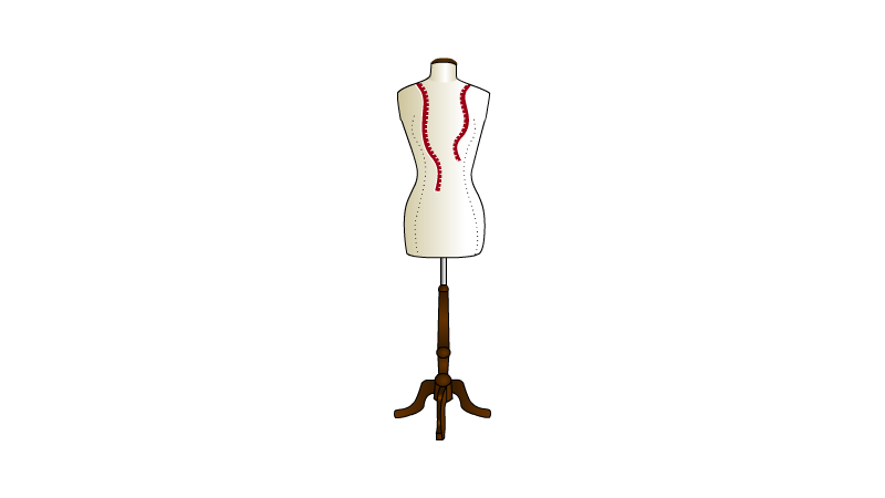 Illustration mannequin couture