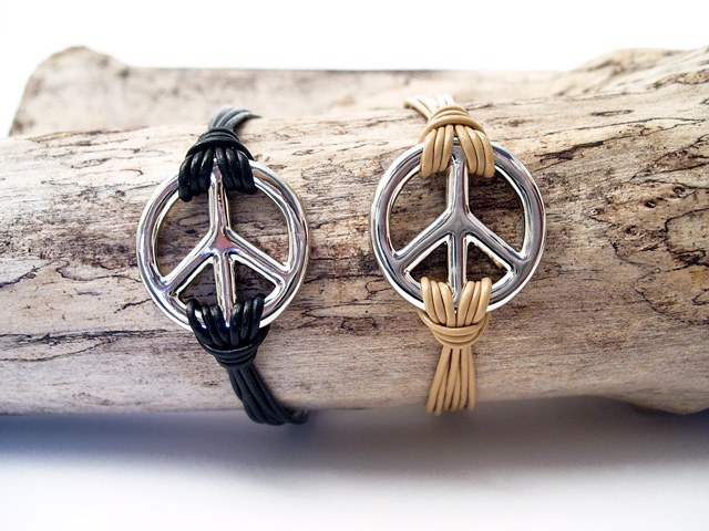 Photo bracelets Peace and love
