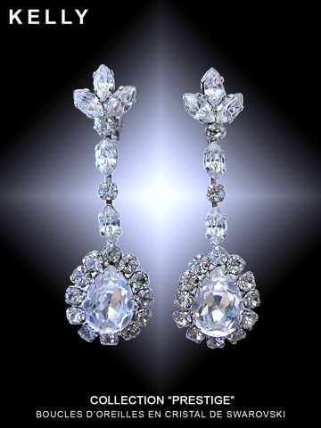 Photo boucles d'oreilles Swarovski