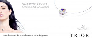 Bannire Swarovki crystal cubes